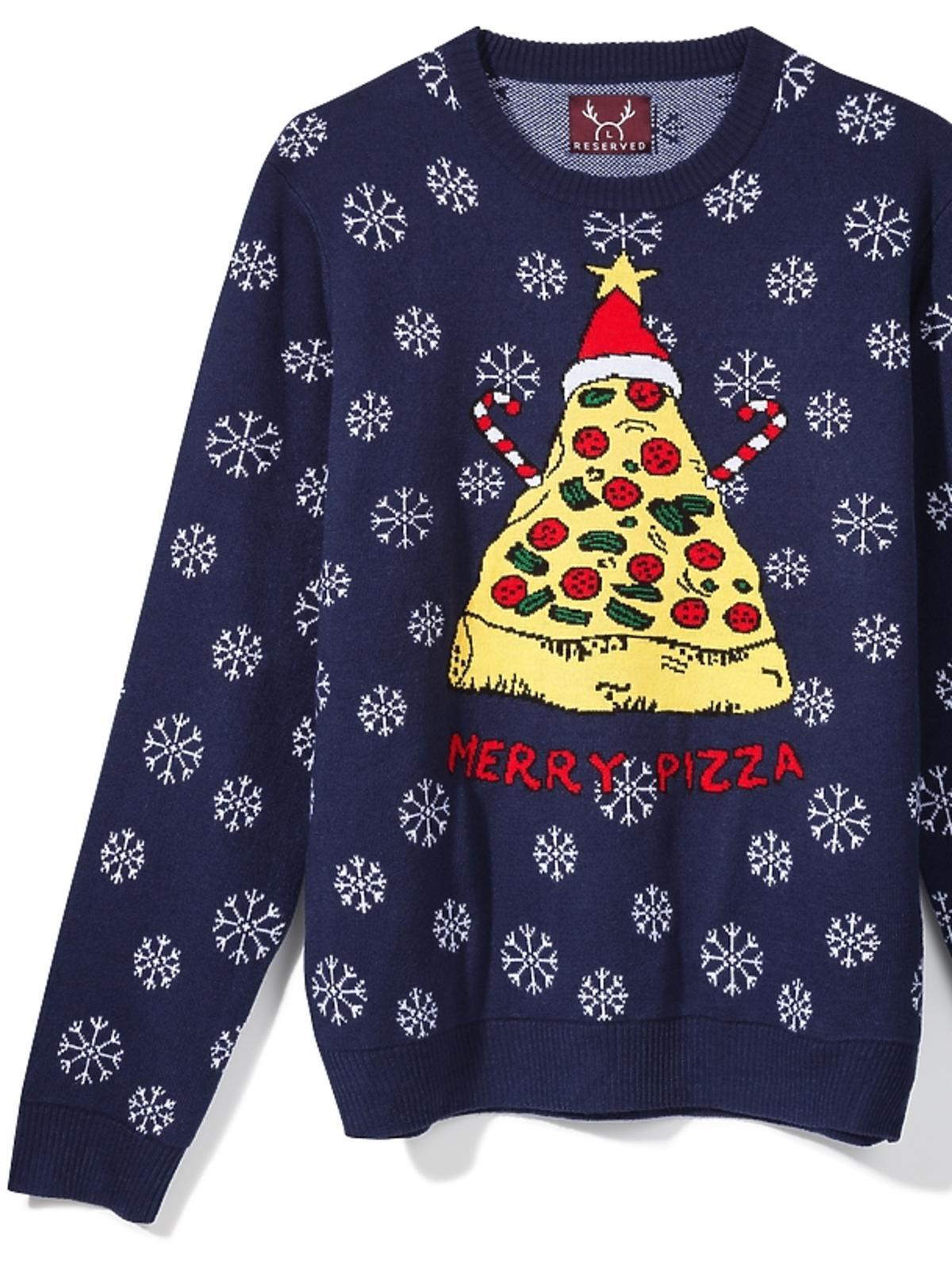 Świąteczny sweter z pizzą Reserved