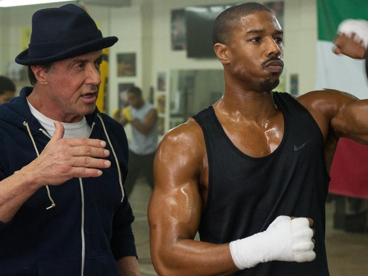 Sylvester Stallone i Michael B. Jordan w filmie Creed: Narodziny legendy