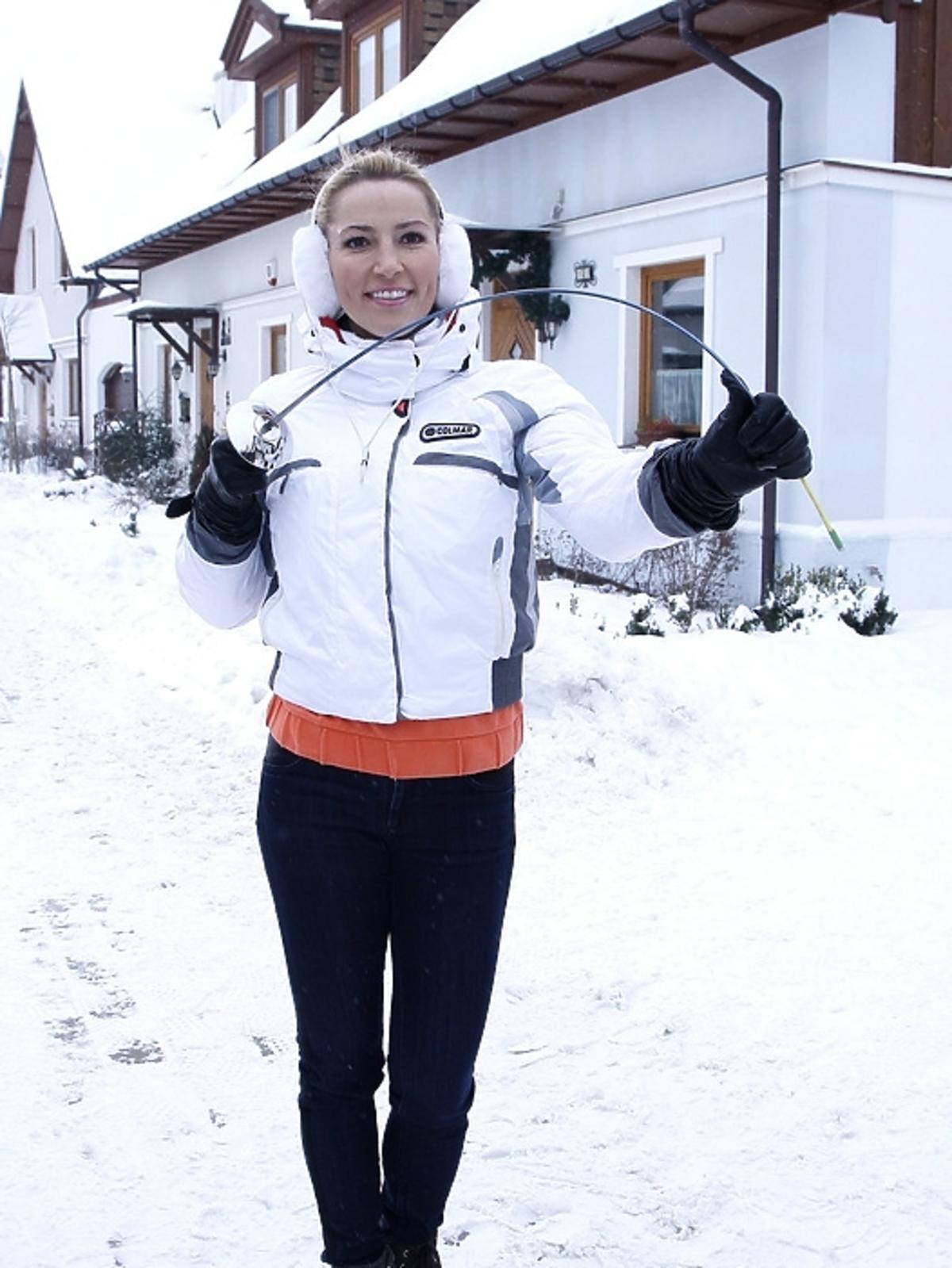 Sylwia Gruchała na planie serialu