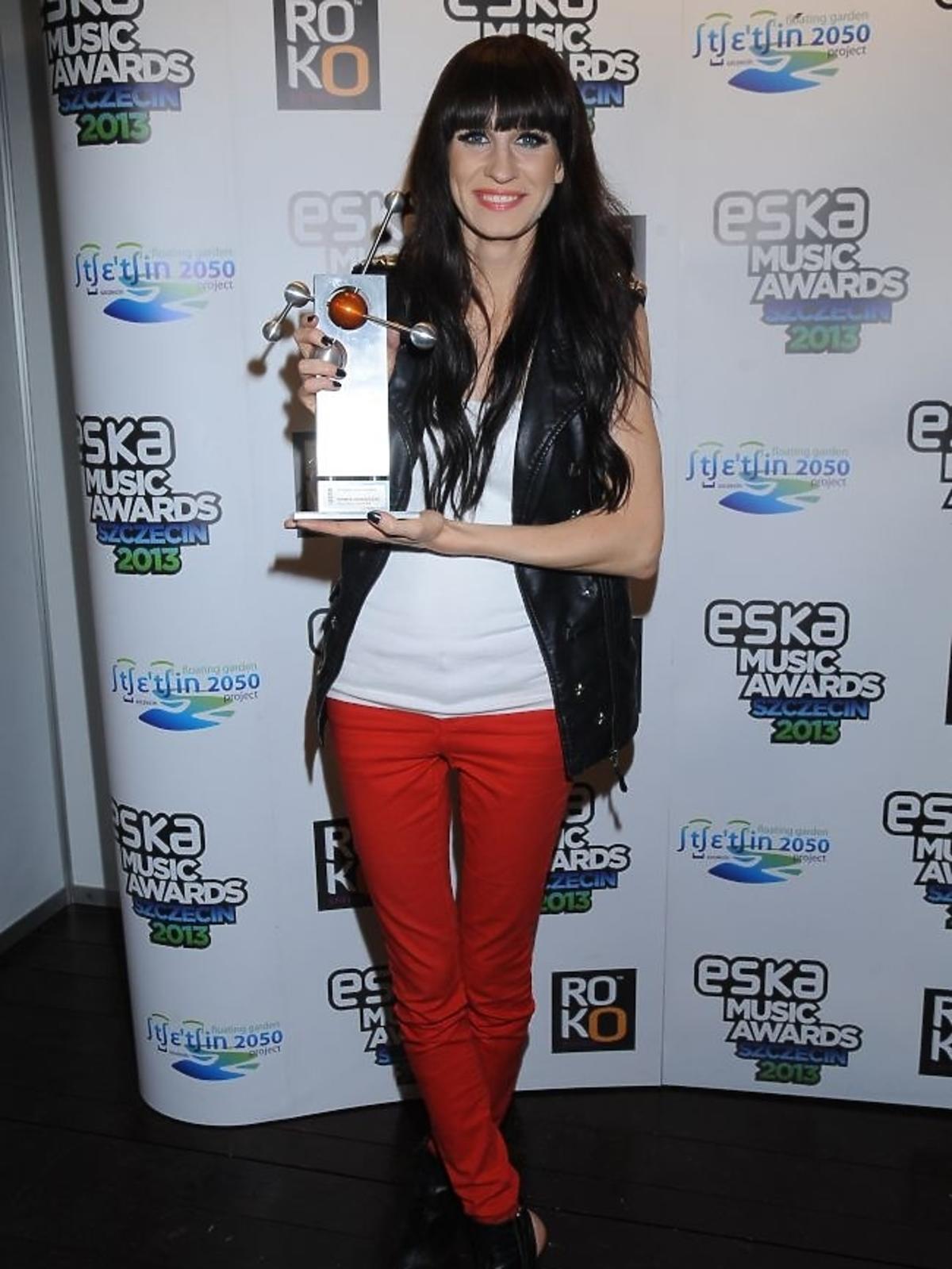 Sylwia Grzeszczak na gali Eska Music Awards 2013