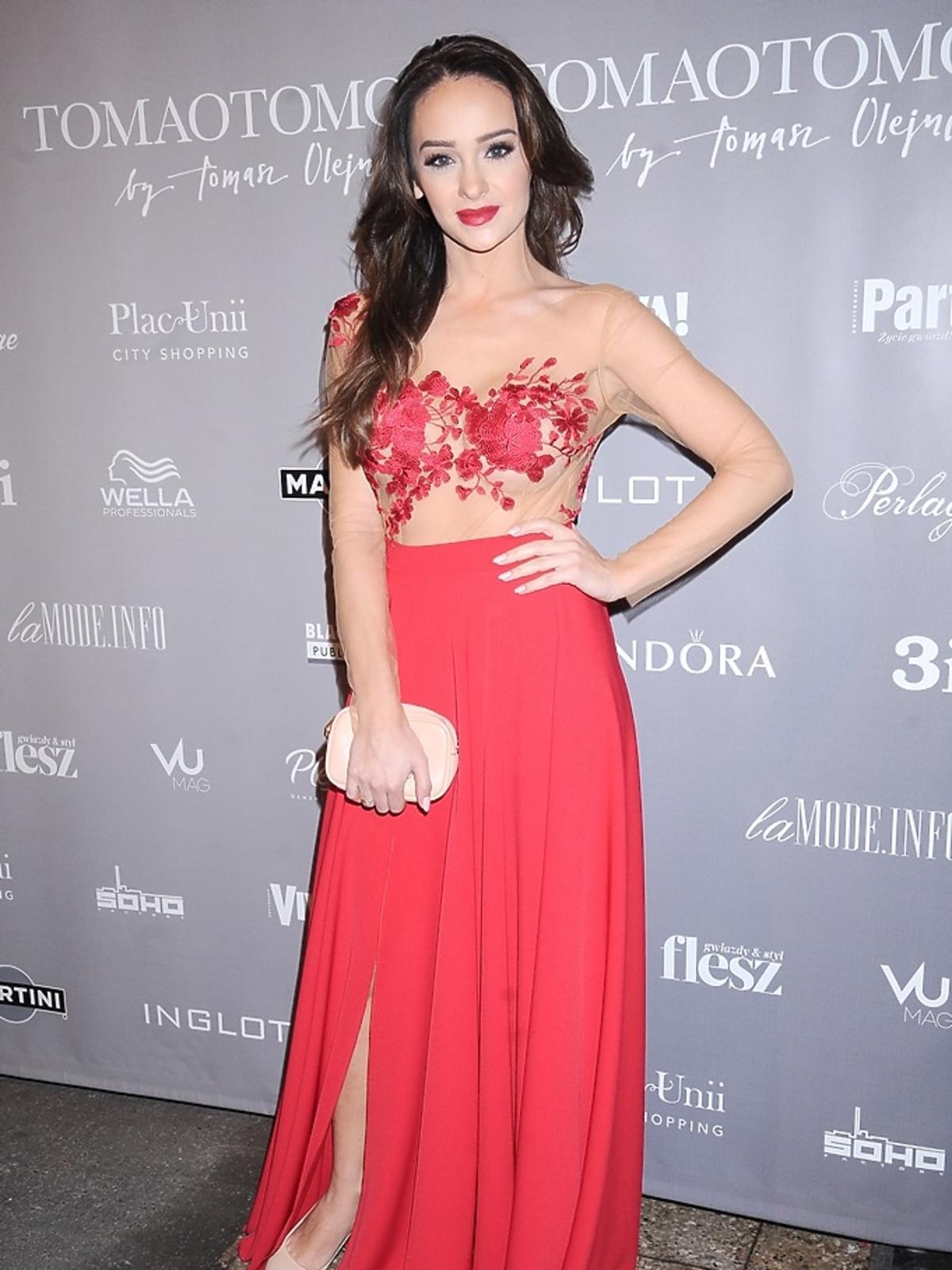 Sylwia Nowak w czerwonej sukni