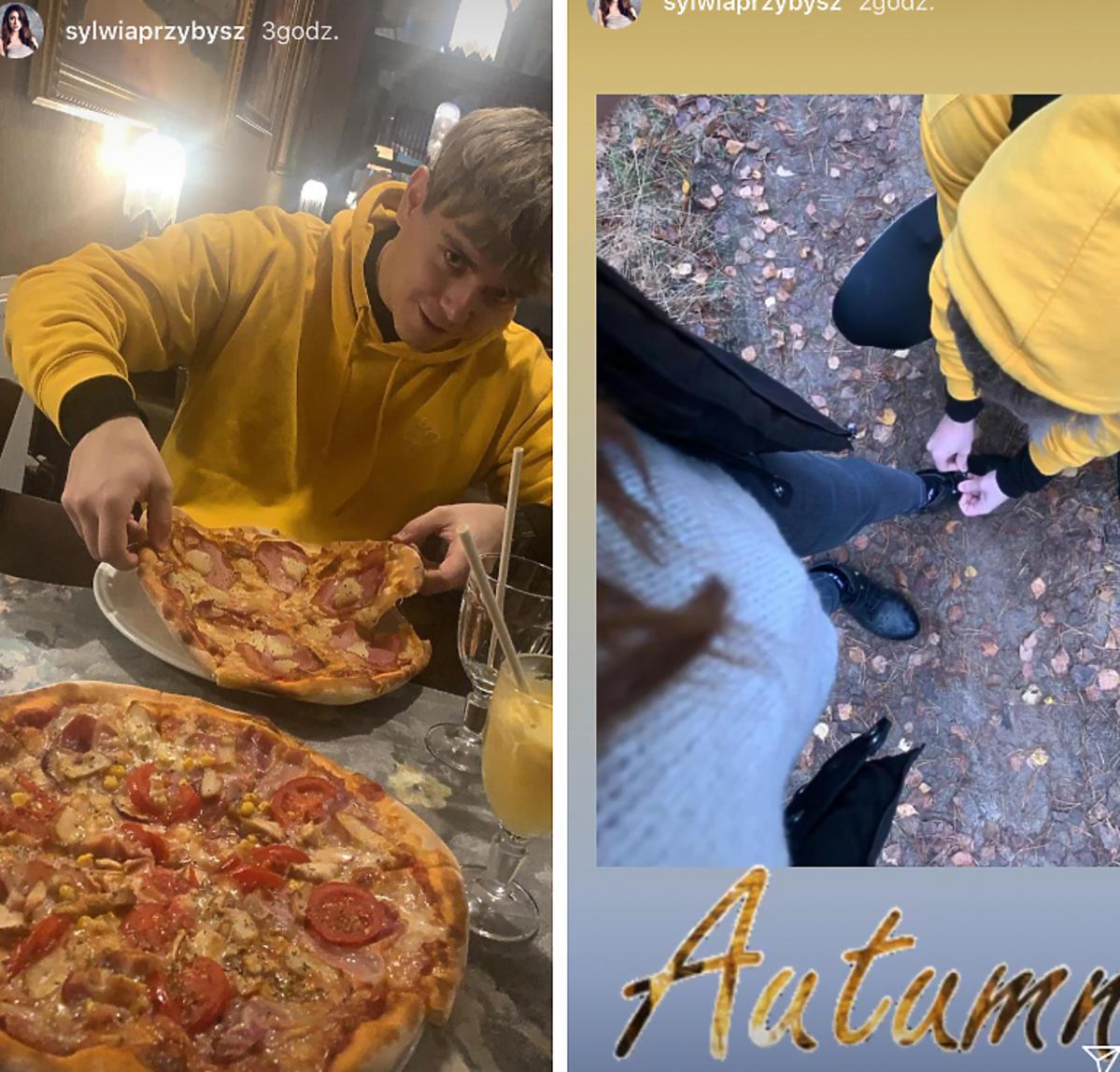 Sylwia Przybysz na pizzy
