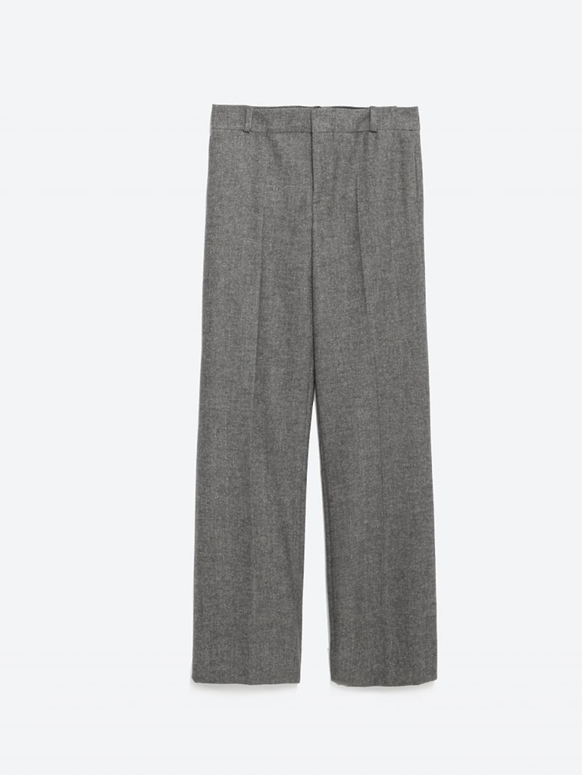 Proste spodnie z szeroką nogawką, 129 zł (było: 199 zł)