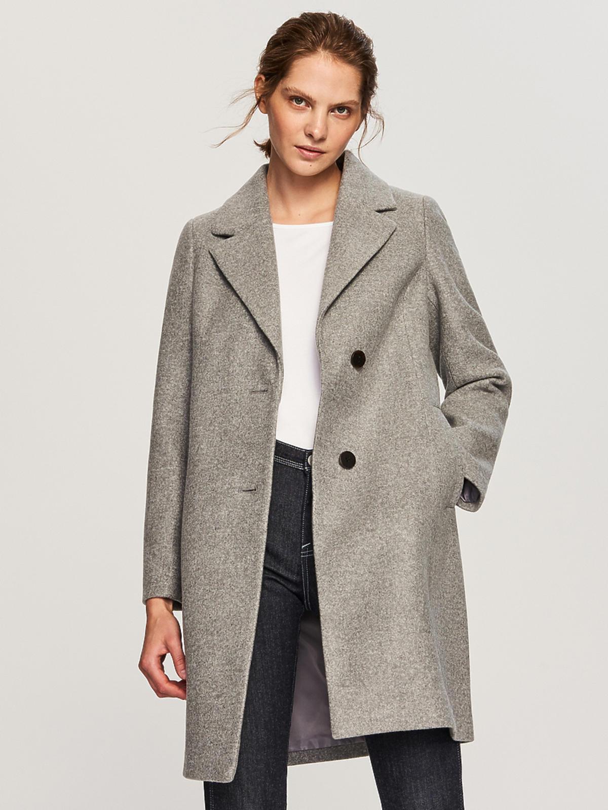 Szary płaszcz Reserved