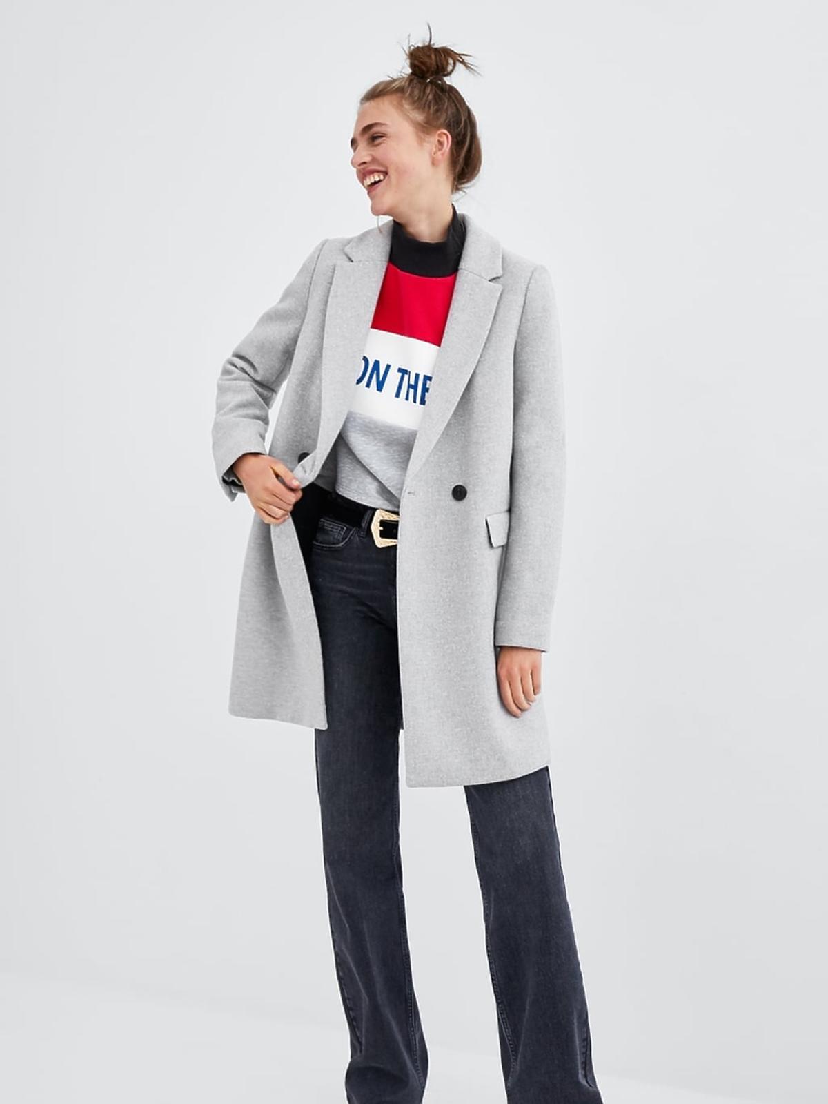 Szary płaszcz Zara