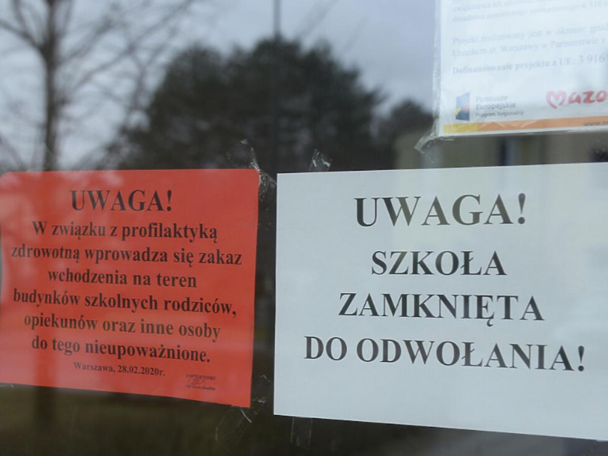 Szkoły zamknięte z powodu koronawirusa