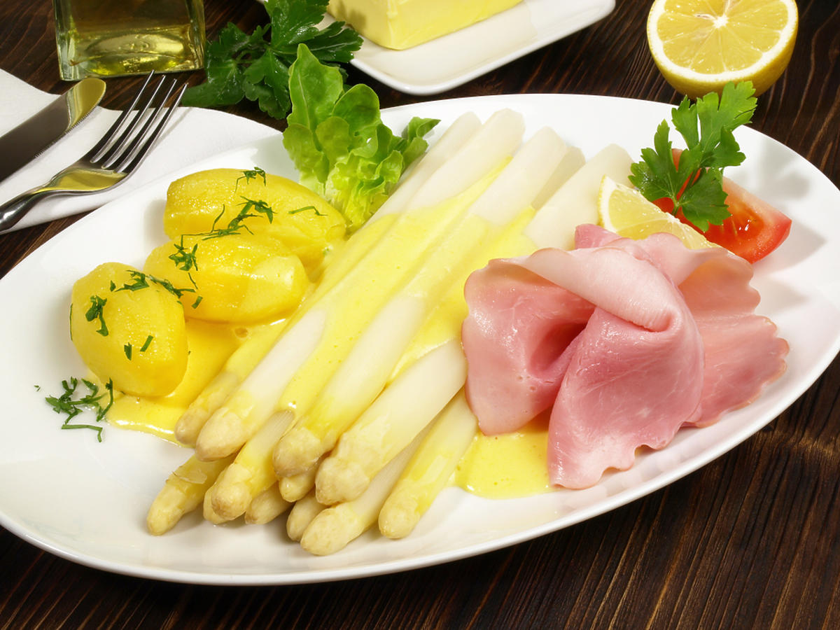 Szparagi z masłem