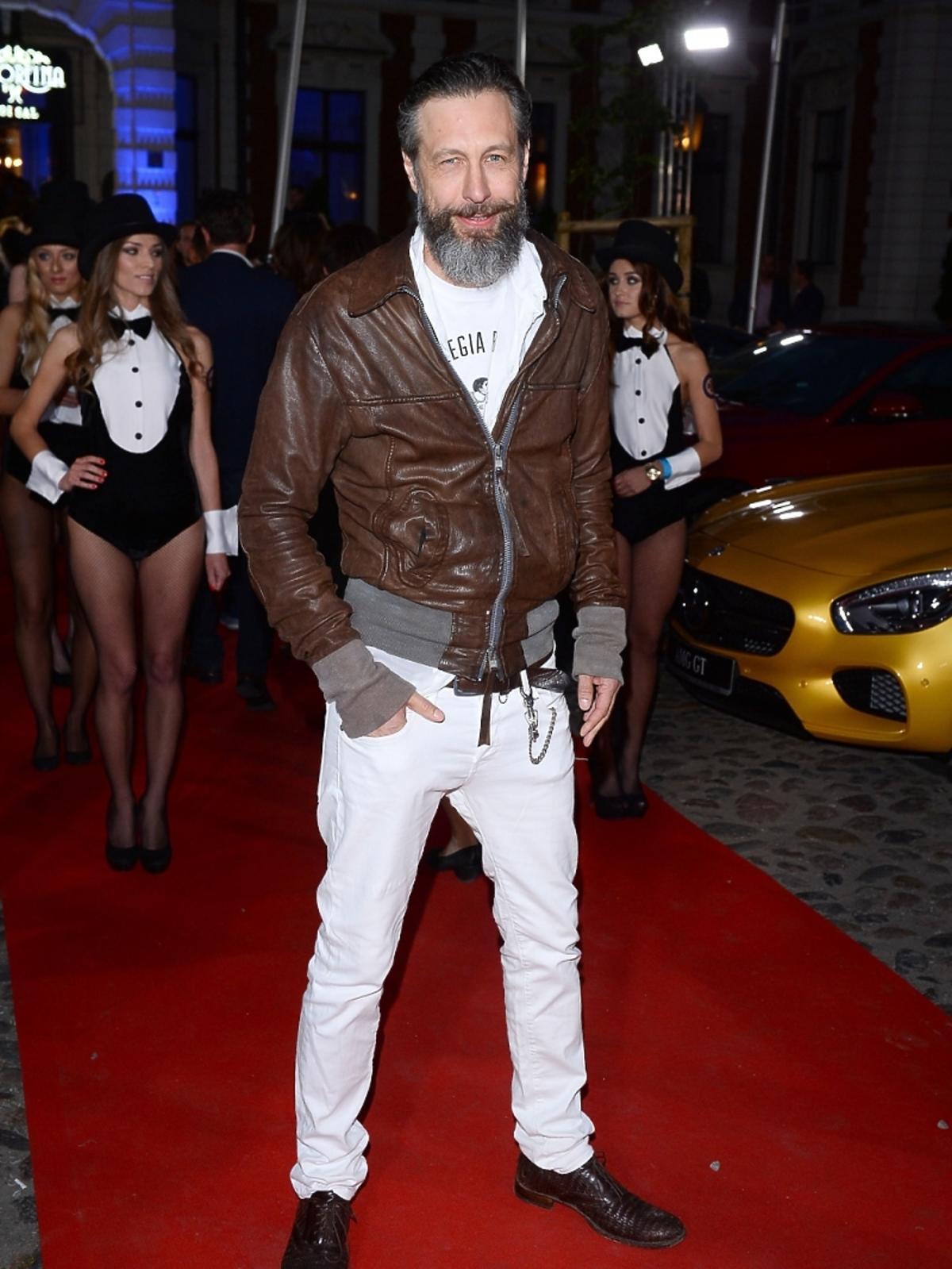 Szymon Majewski na imprezie Samochód Roku Playboya