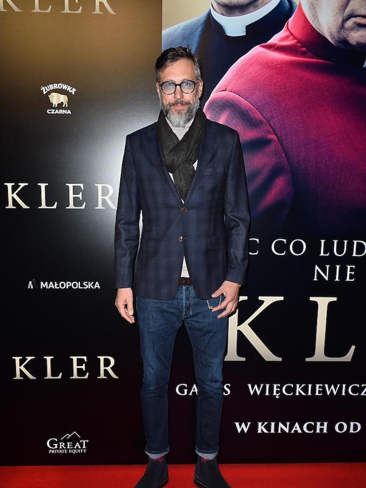 Szymon Majewski na premierze filmu Kler