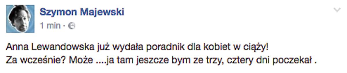 Szymon Majewski o Annie Lewandowskiej