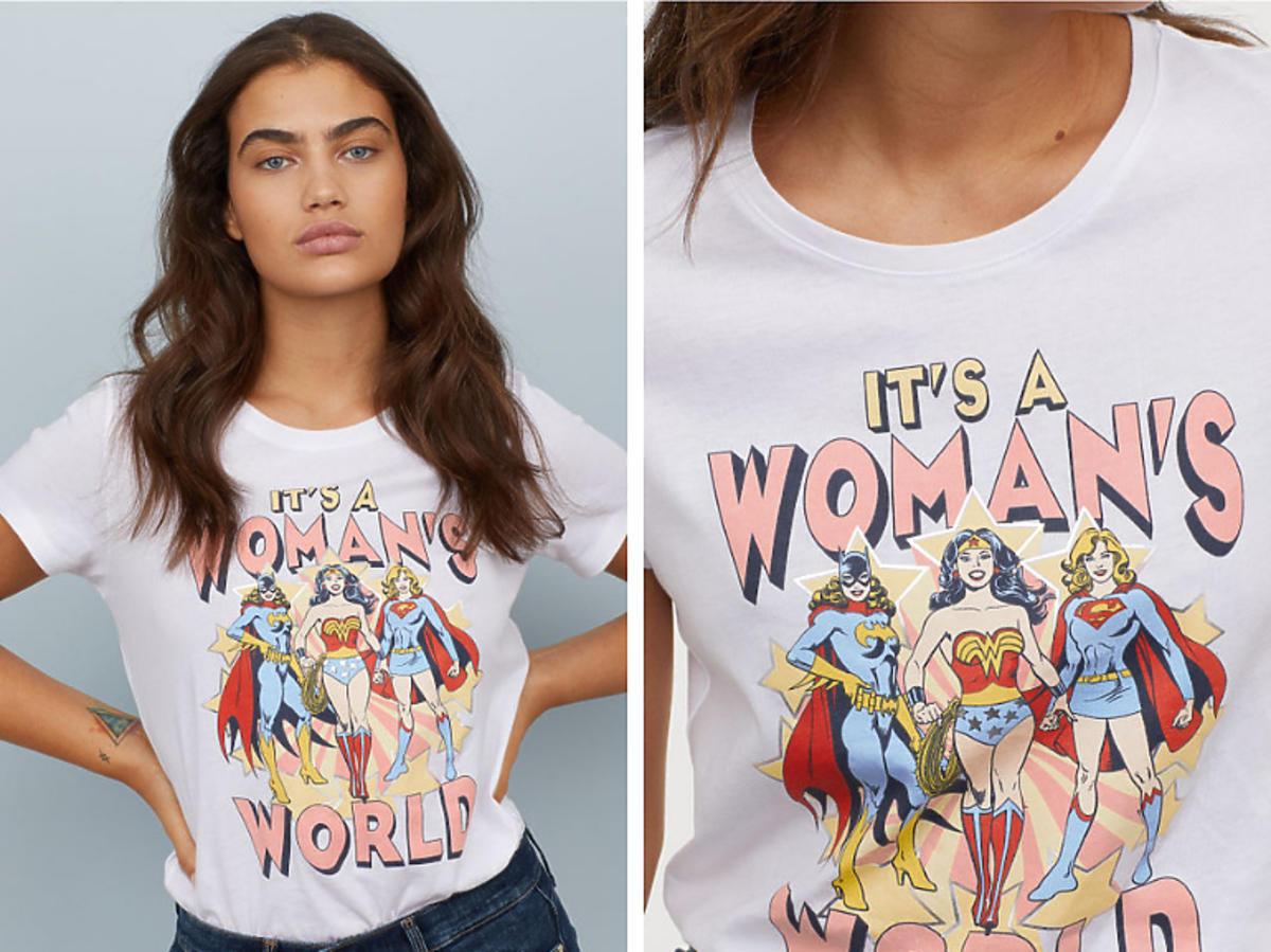 T-shirt z motywem H&M