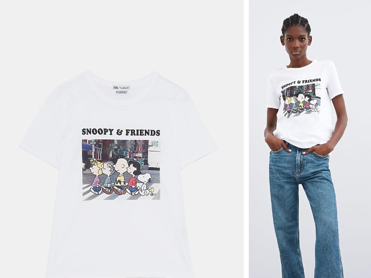 T-shirt z nadrukiem Zara