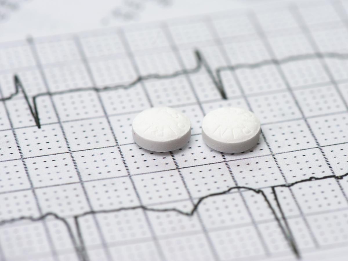 tabletki leżące na wydruku ekg