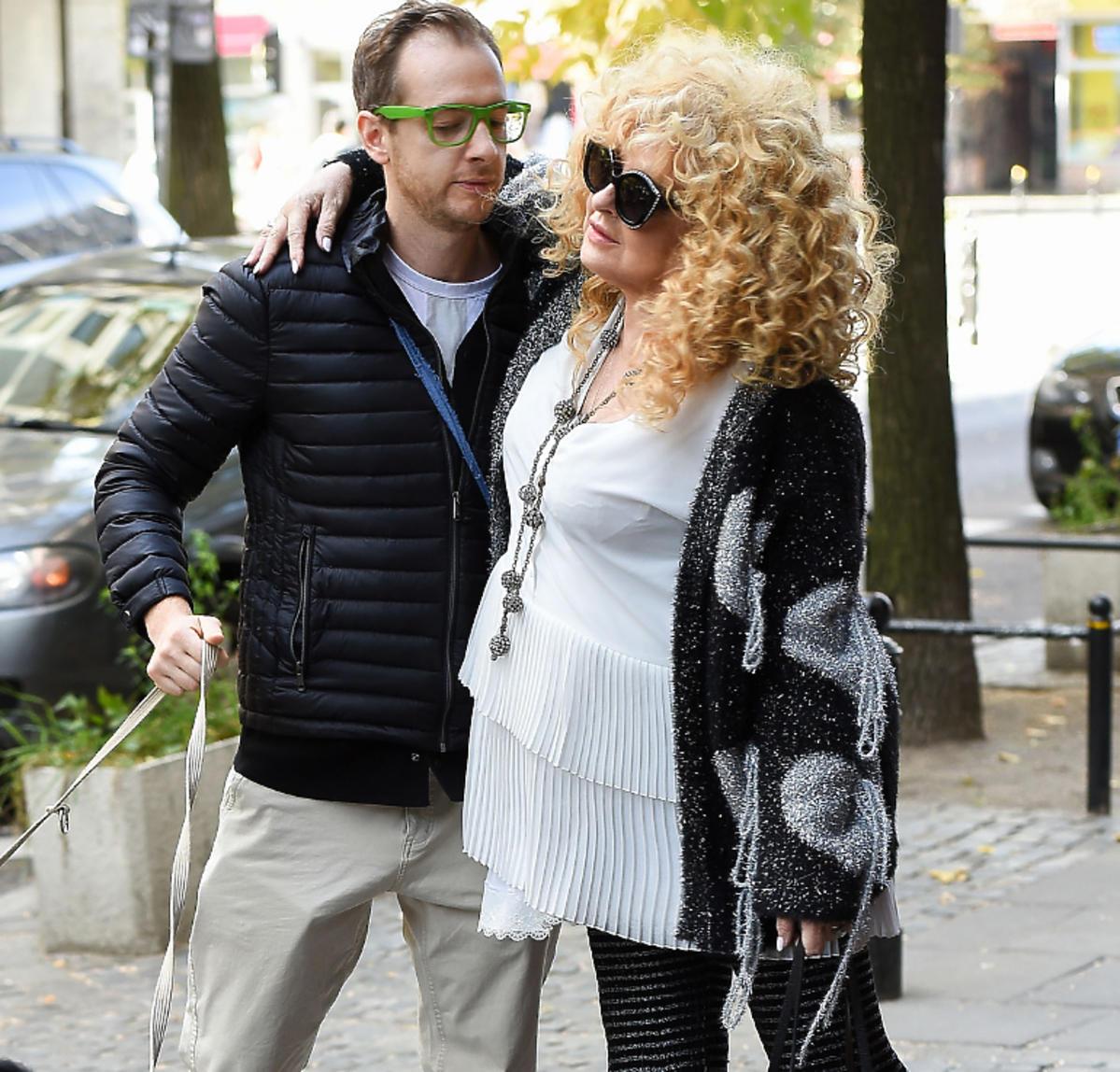 Tadeusz Muller ze swoją mamą, Magdą Gessler