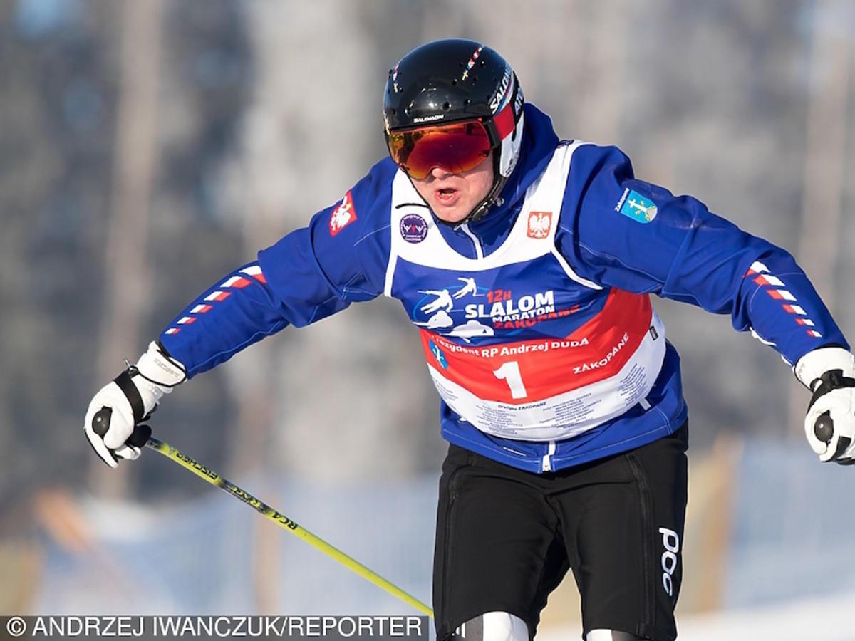 Tak prezydent Andrzej Duda jeździ na nartach
