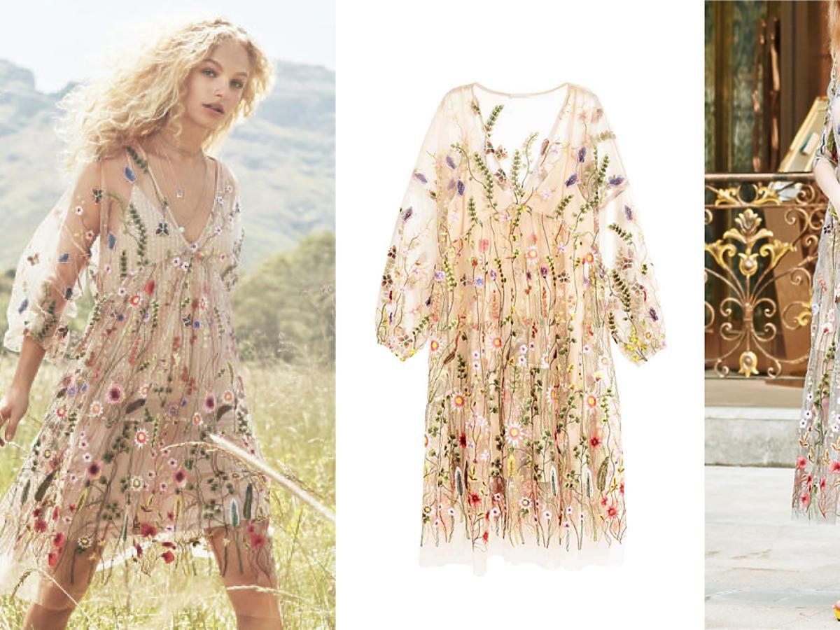 Taka sama sukienka w kwiaty w kilku sklepach! H&M Asos Lipsy