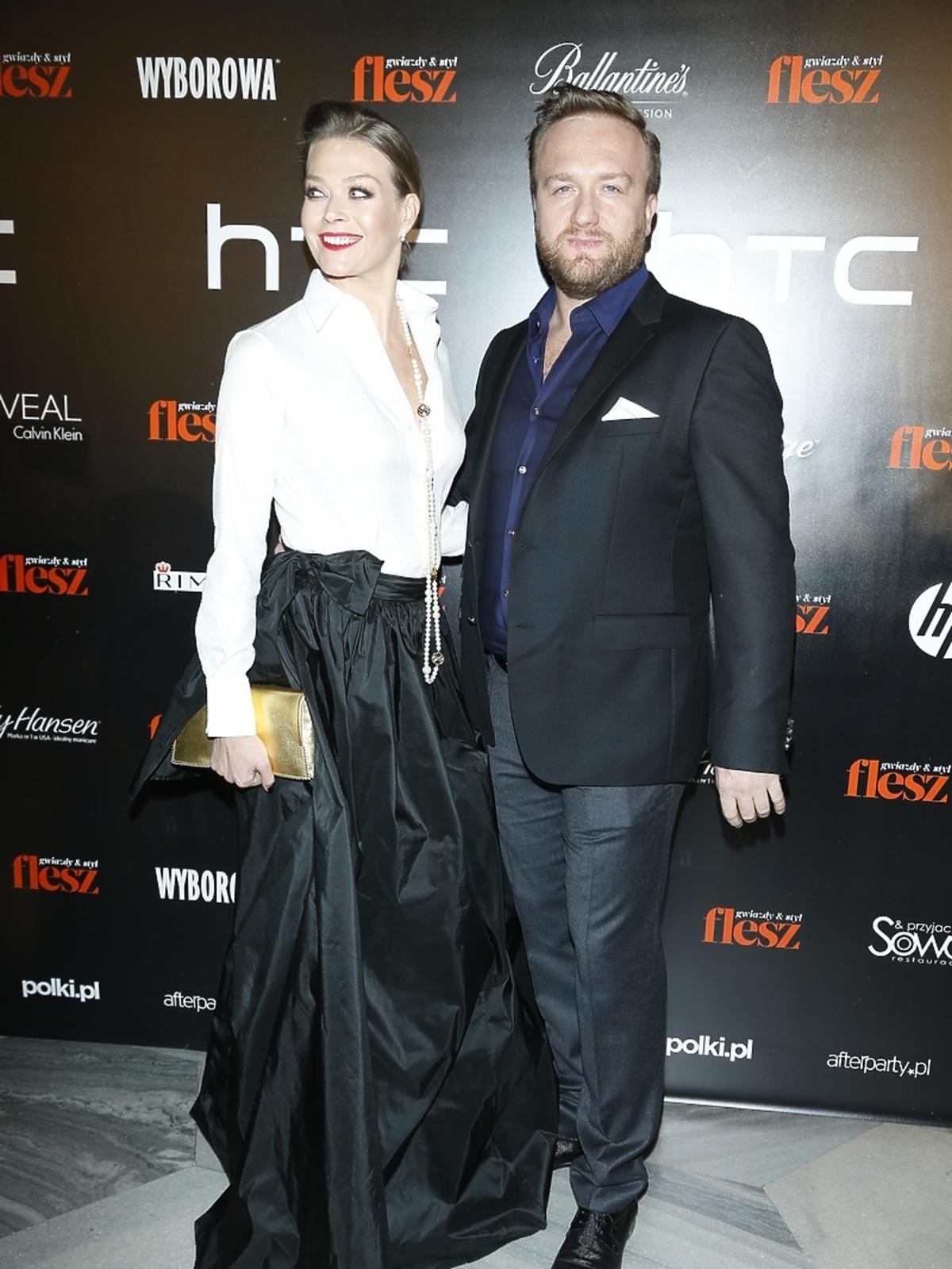 Tamara Arciuch i Bartek Kasprzykowski na imprezie Flesz Fashion Night