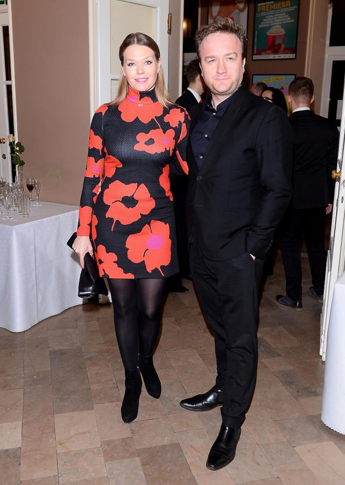 Tamara Arciuch i Bartłomiej Kasprzykowski na premierze sztuki