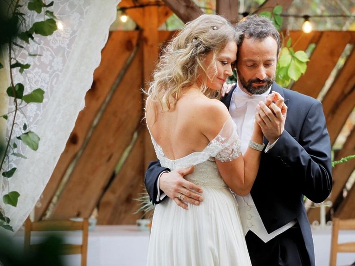 Tamara Arciuch w sukni ślubnej