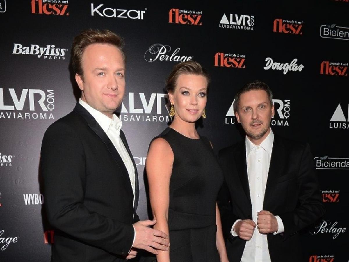 Tamara Arciuch z mężem i projektantem