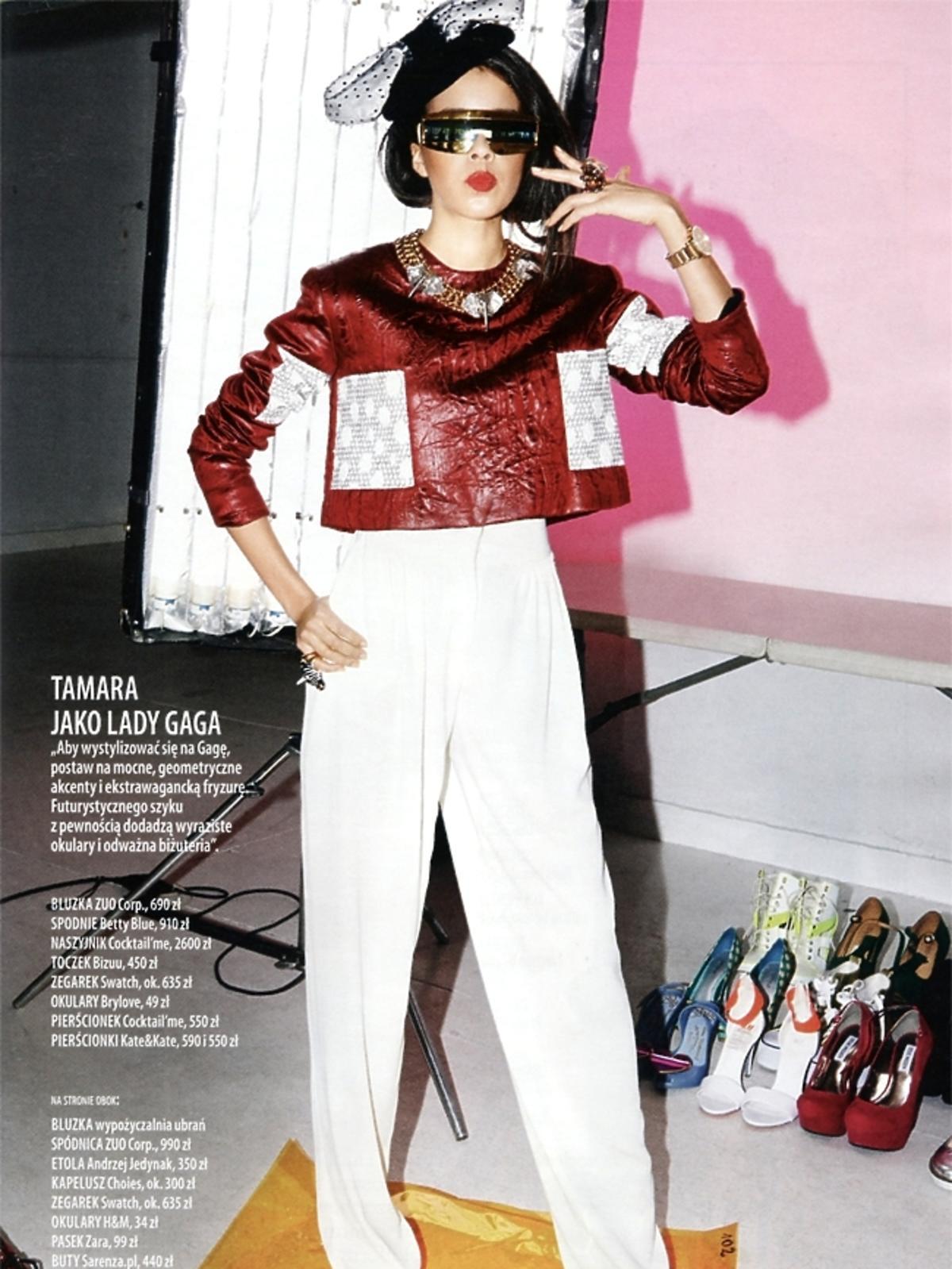 Tamara jako Lady Gaga w sesji dla Glamour