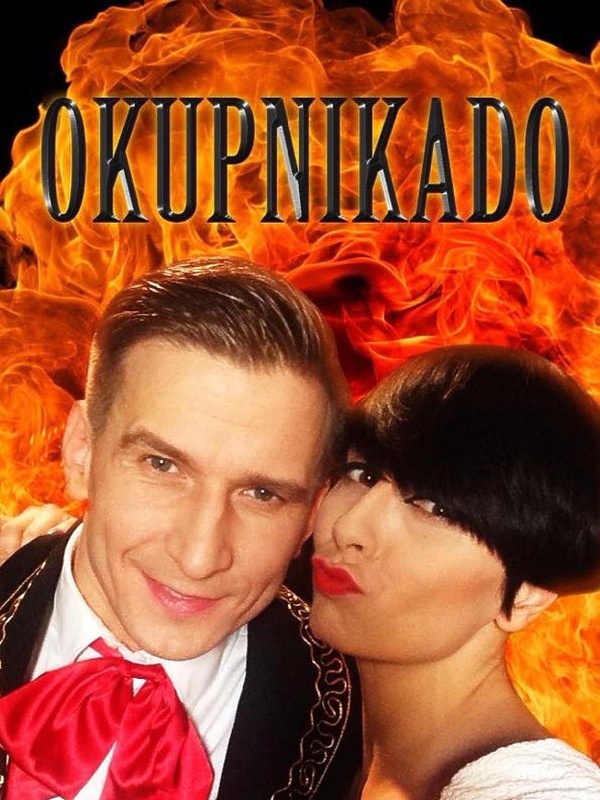 Tatiana Okupnik i Tomasz Barański  na plakacie filmowym