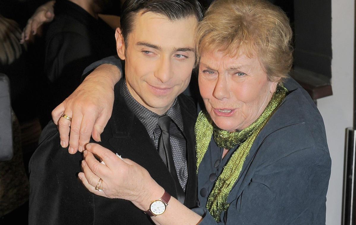 Teresa Lipowska i Kacper Kuszewski na planie M jak miłość