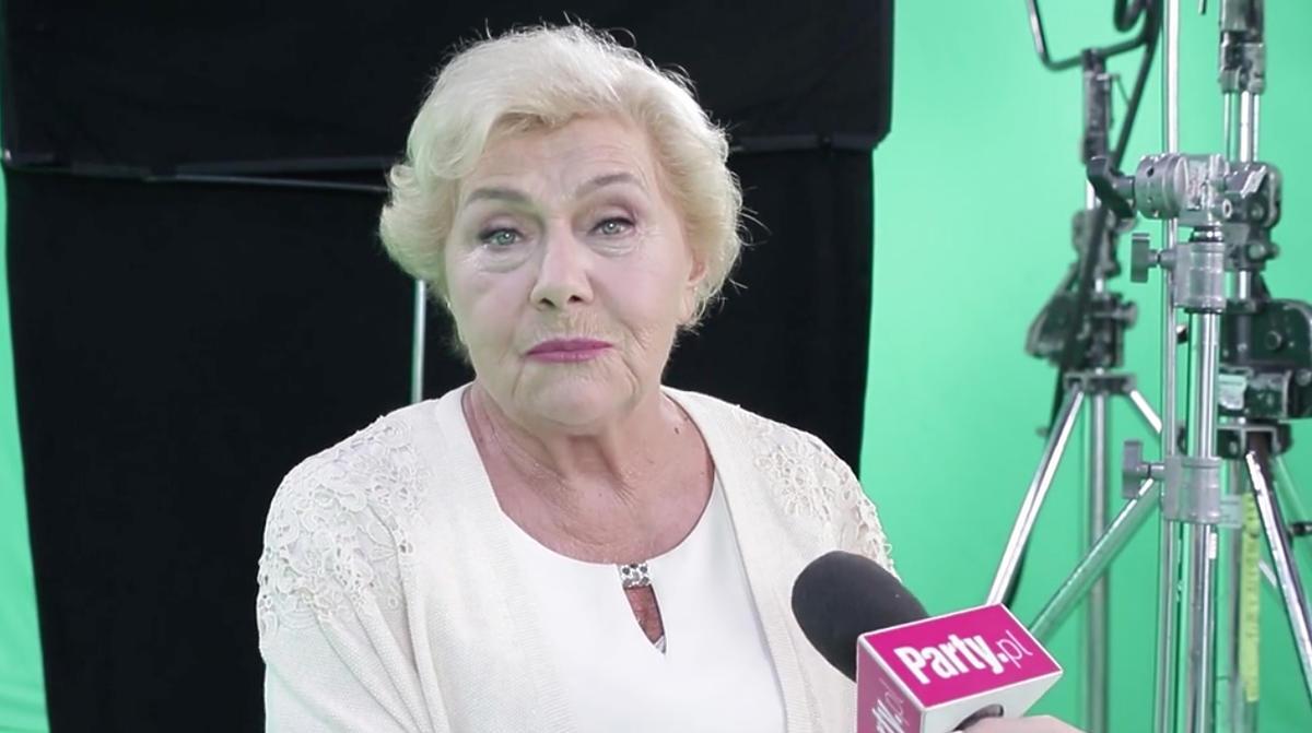 Teresa Lipowska na planie nowej czołówki M jak miłość