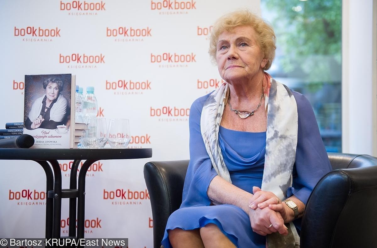 Teresa Lipowska na premierze swojej książki