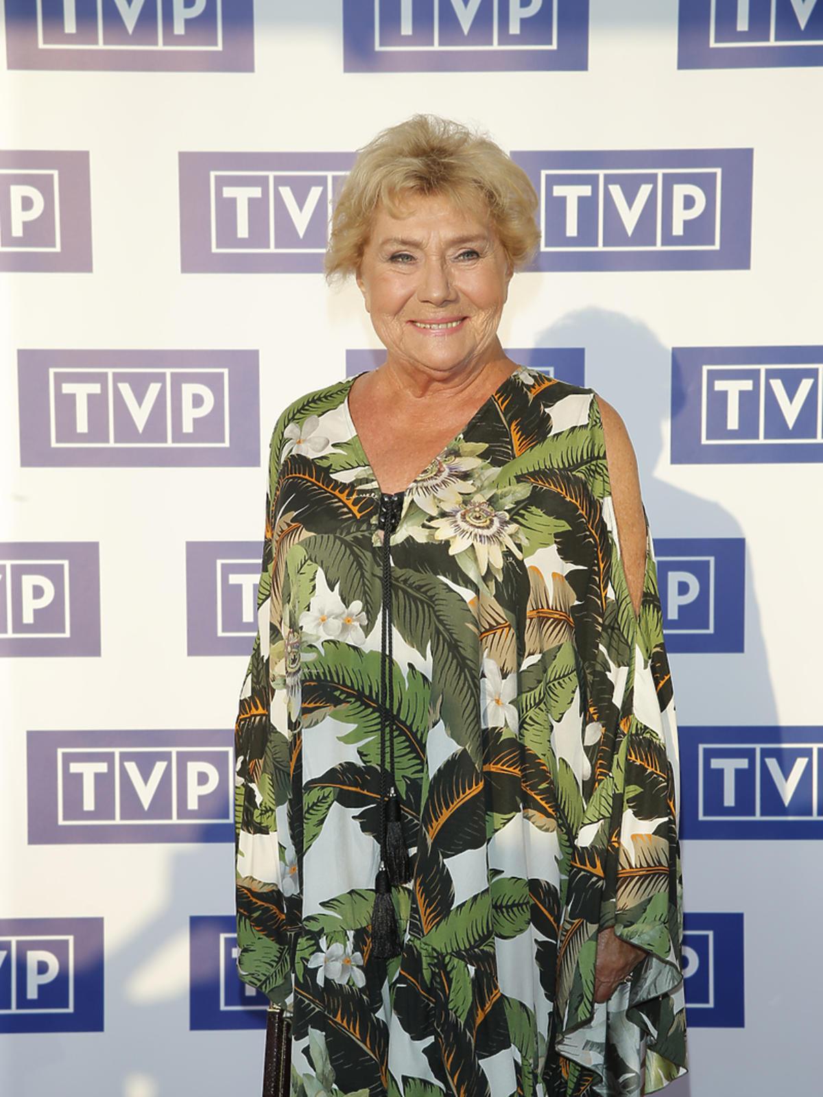 Teresa Lipowska upadła na ramówce TVP