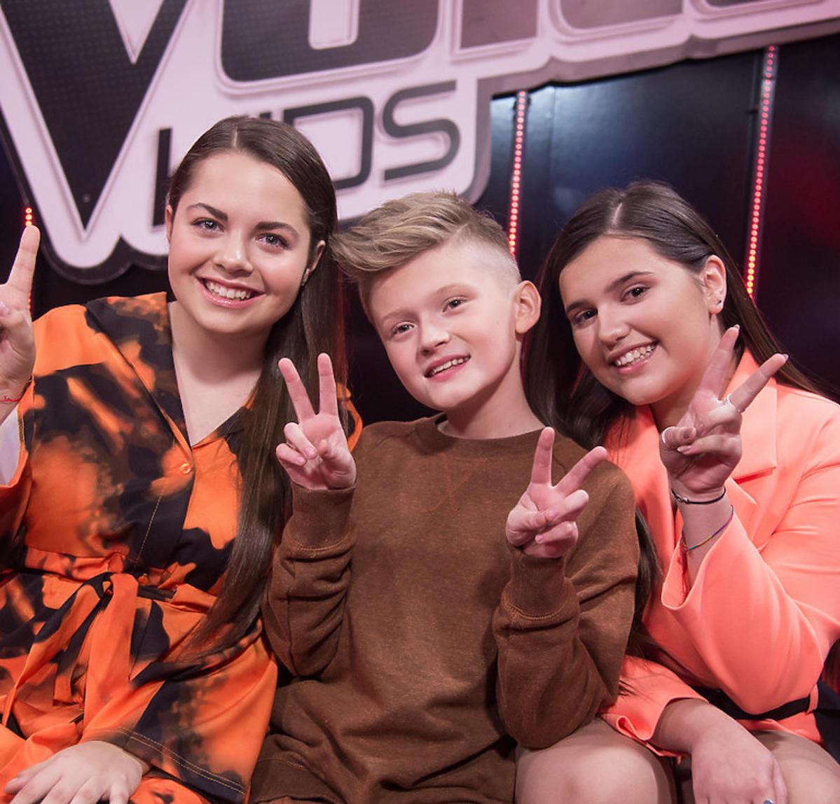 The Voice Kids 3 - finał Drużyna Cleo : Natalia Kawalec, Szymon Lubicki, Wiktoria Zwolińska
