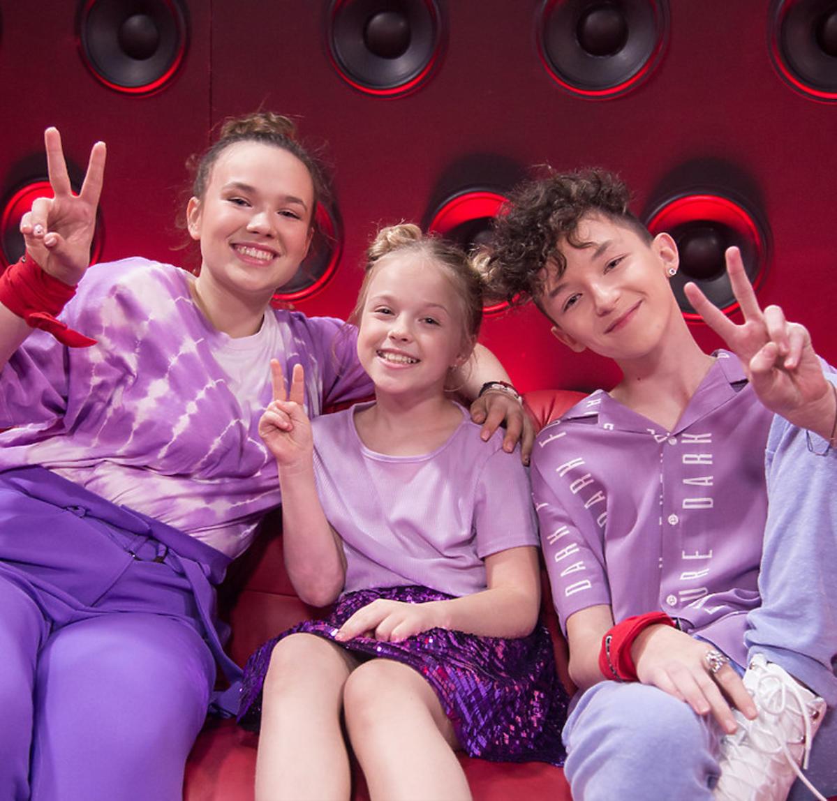 The Voice Kids 3 - finał Drużyna Dawida Kwiatkowskiego: Anastazja Maciąg, Ala Tracz, Marcin Maciejczak