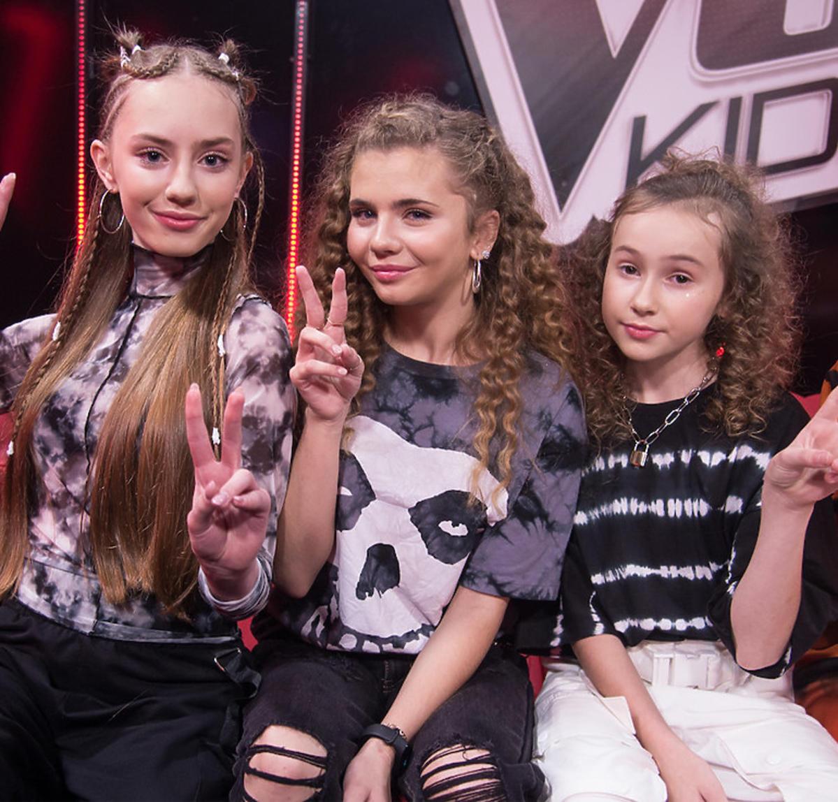 The Voice Kids 3 - finał Drużyna Tomsona i Barona: Hania Sztachańska, Ewelina Kozub, Ola Gwazdacz