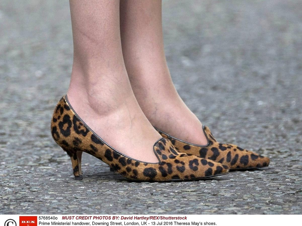 Theresa May, nowa premier Wielkiej , buty