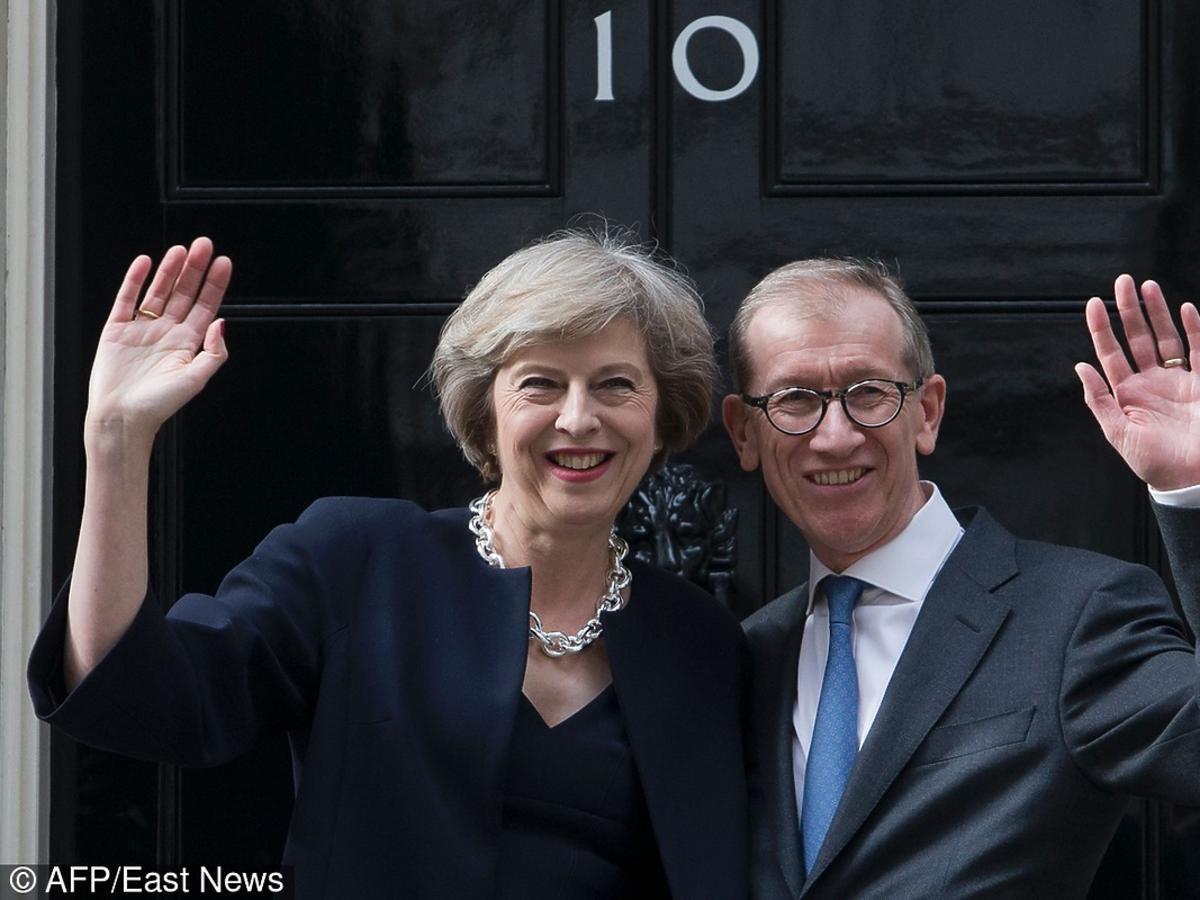Theresa May, nowa premier Wielkiej z mężem