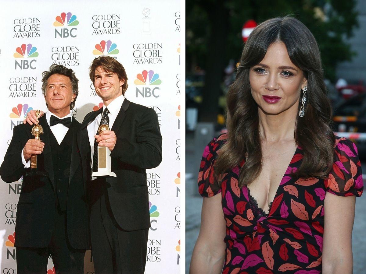 Tom Cruise i Dustin Hoffmani na Złotych Globach, obok Kiga Rusin