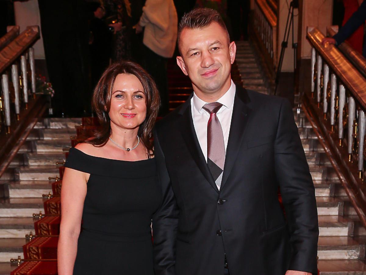 Tomasz Adamek z żoną Dorotą