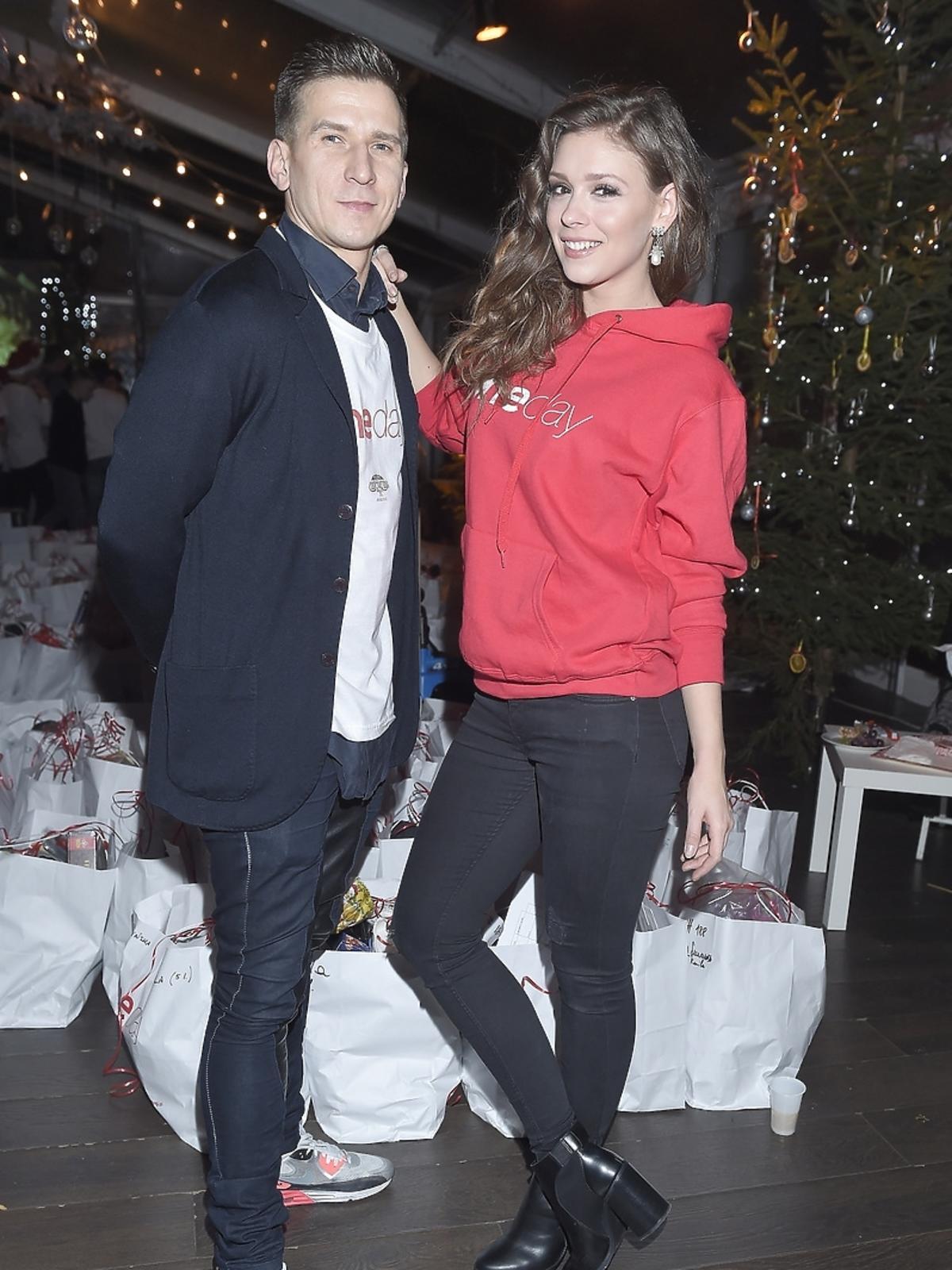 Tomasz Barański i Klaudia Halejcio na imprezie charytatywnej fundacji One Day