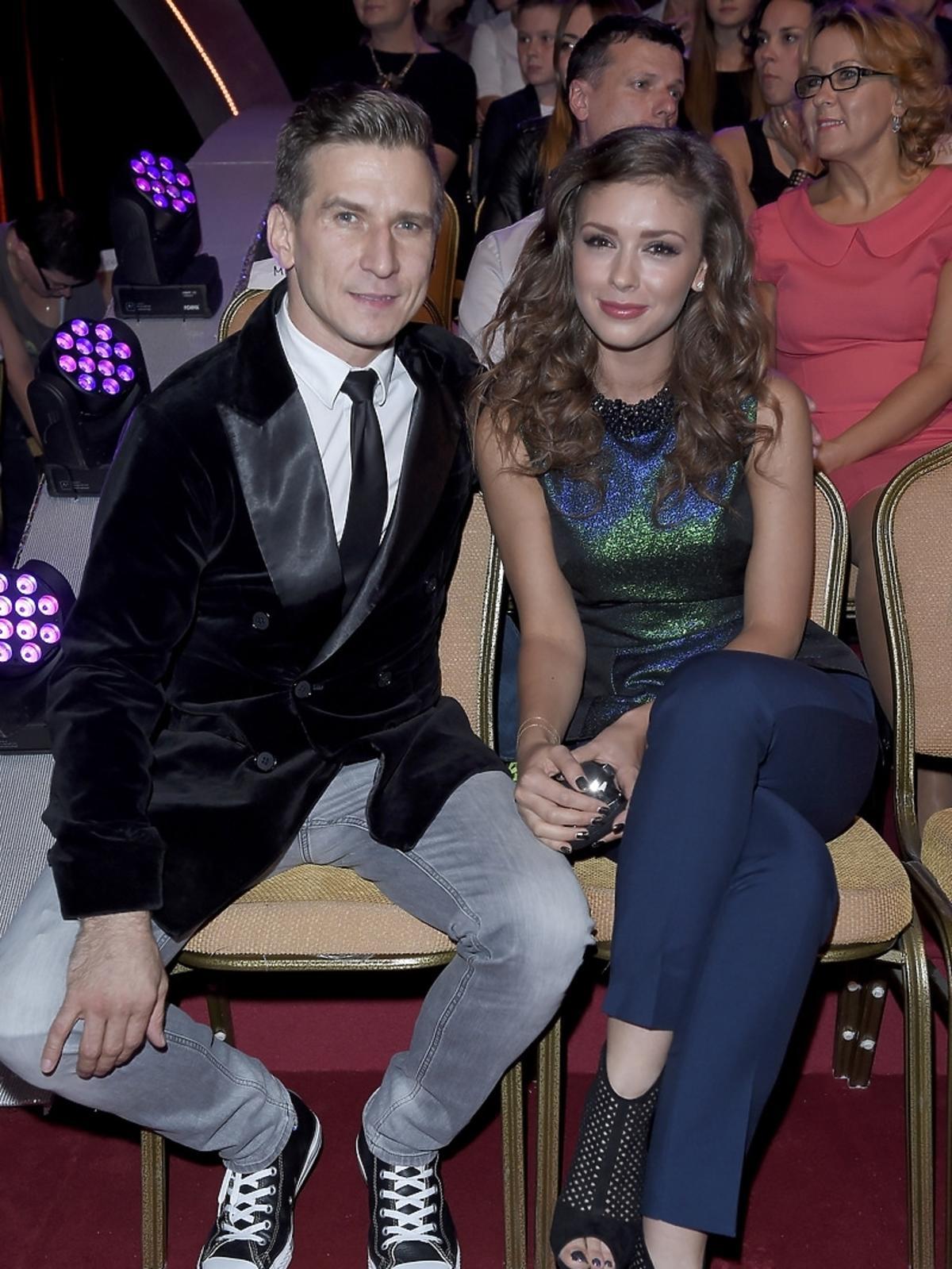 Tomasz Barański i Klaudia Halejcio na planie Tańca z Gwiazdami
