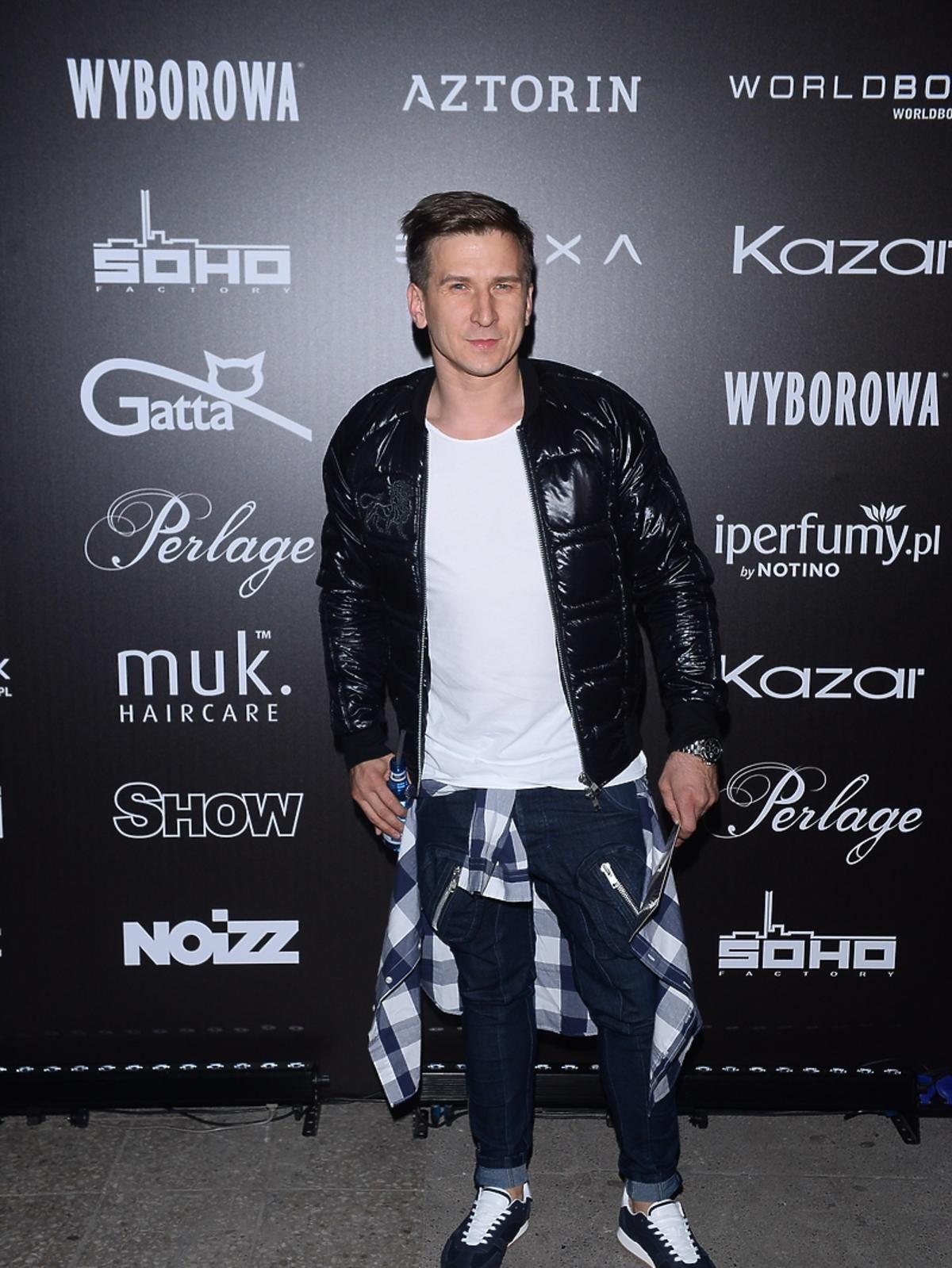 Tomasz Barański na pokazie Roberta Kupisza