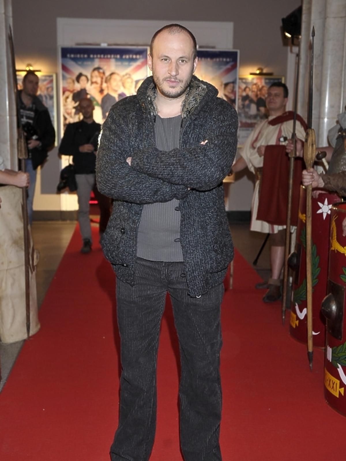 Tomasz Borkowski na premierze filmu