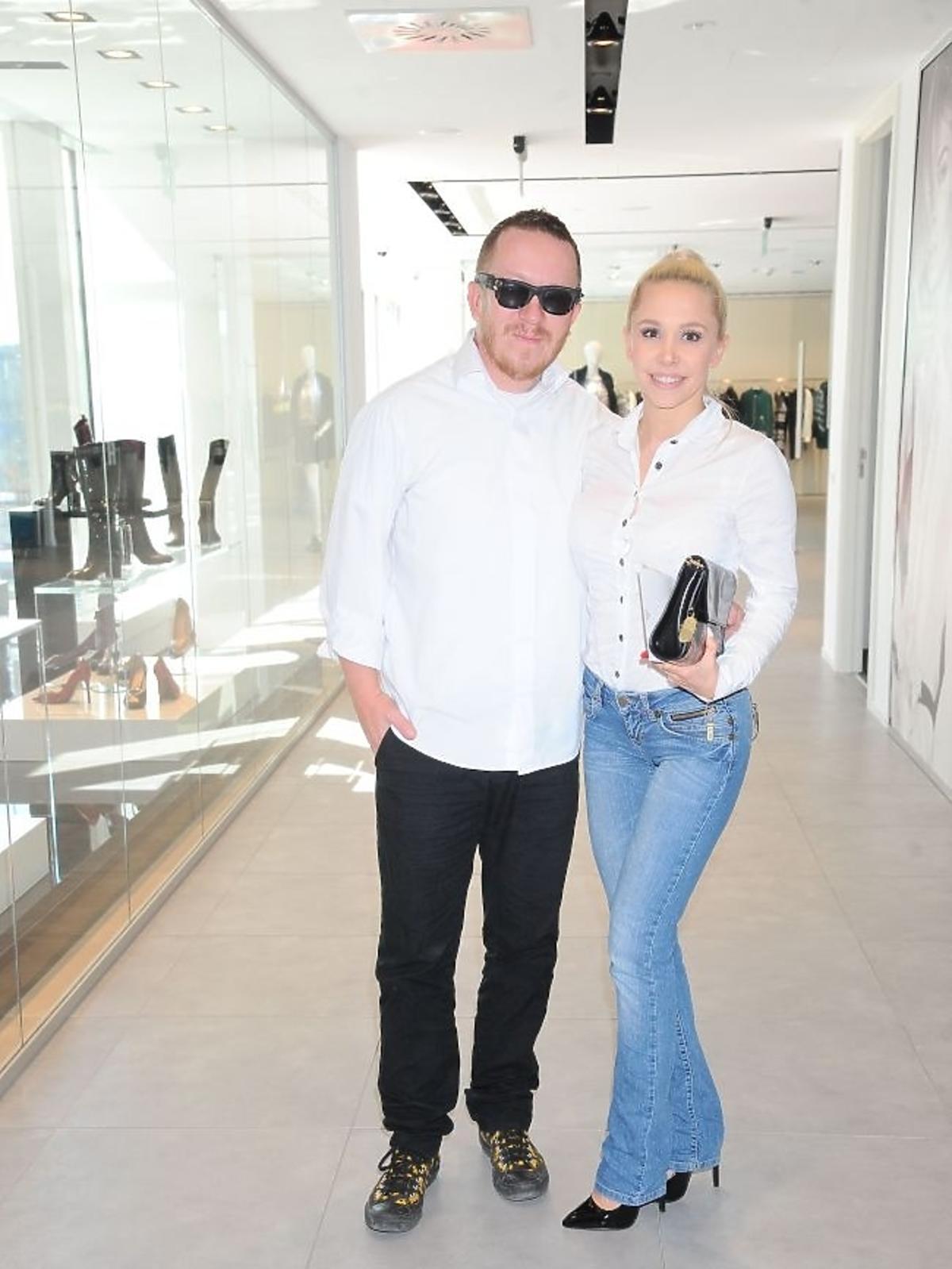 Tomasz i ewa Lubertowie na prezentacji kolekcji Guess