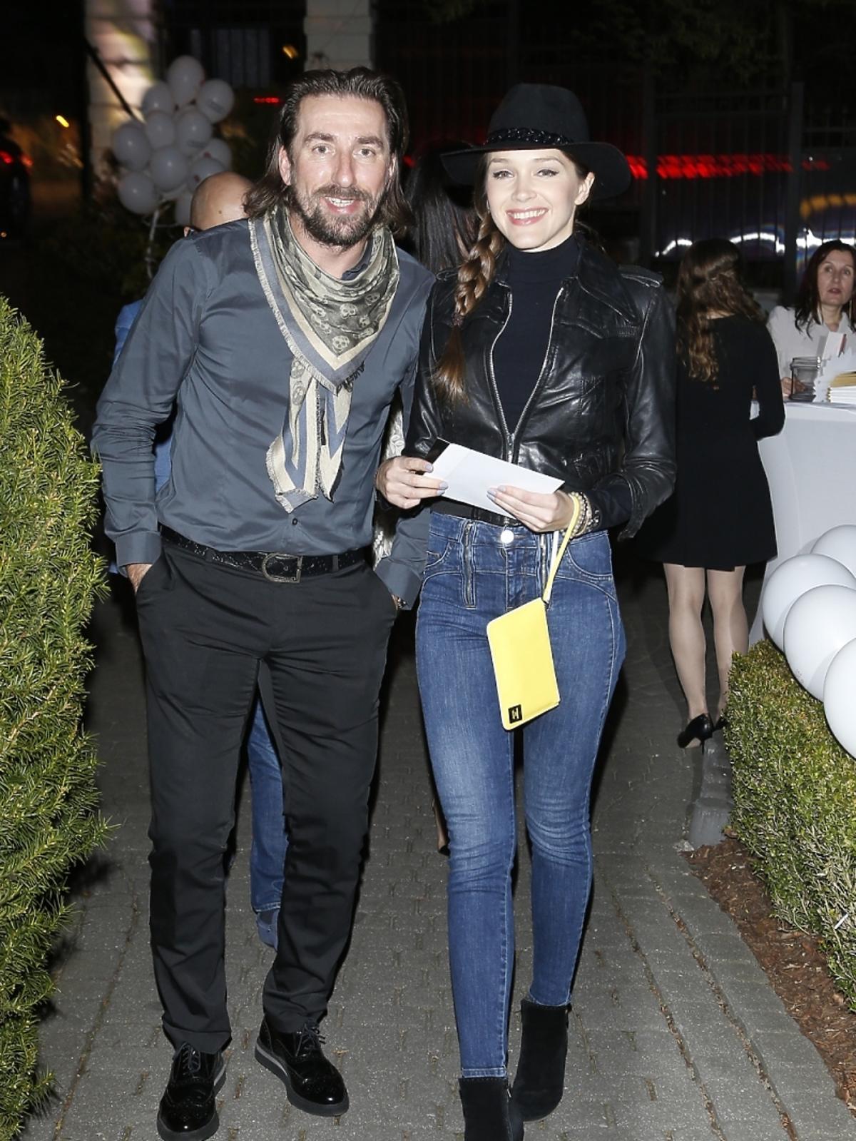 Tomasz Iwan i Natalia Jakuła na otwarciu hotelu i SPA