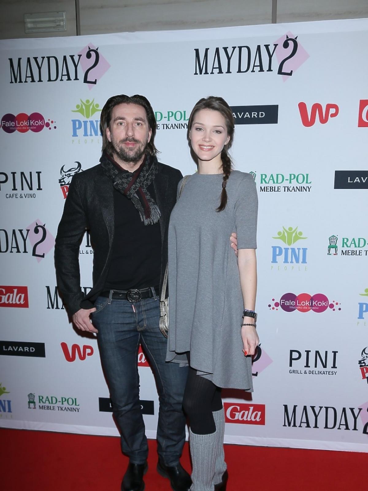 Tomasz Iwan i Natalia Jakuła na premierze spektaklu Mayday 2
