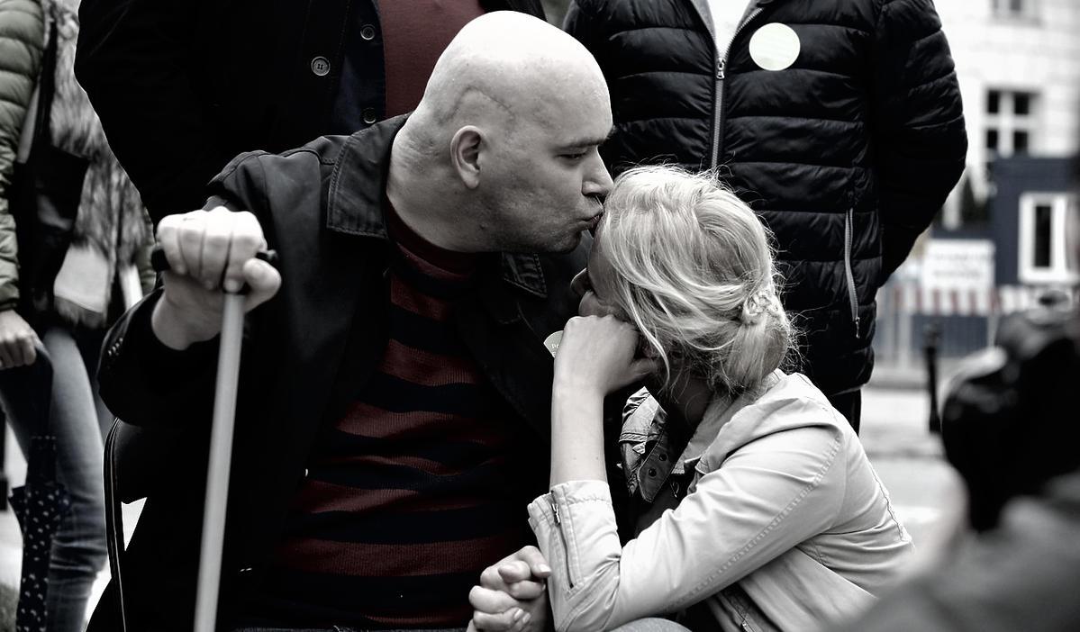 Tomasz Kalita i jego żona Anna Monkos