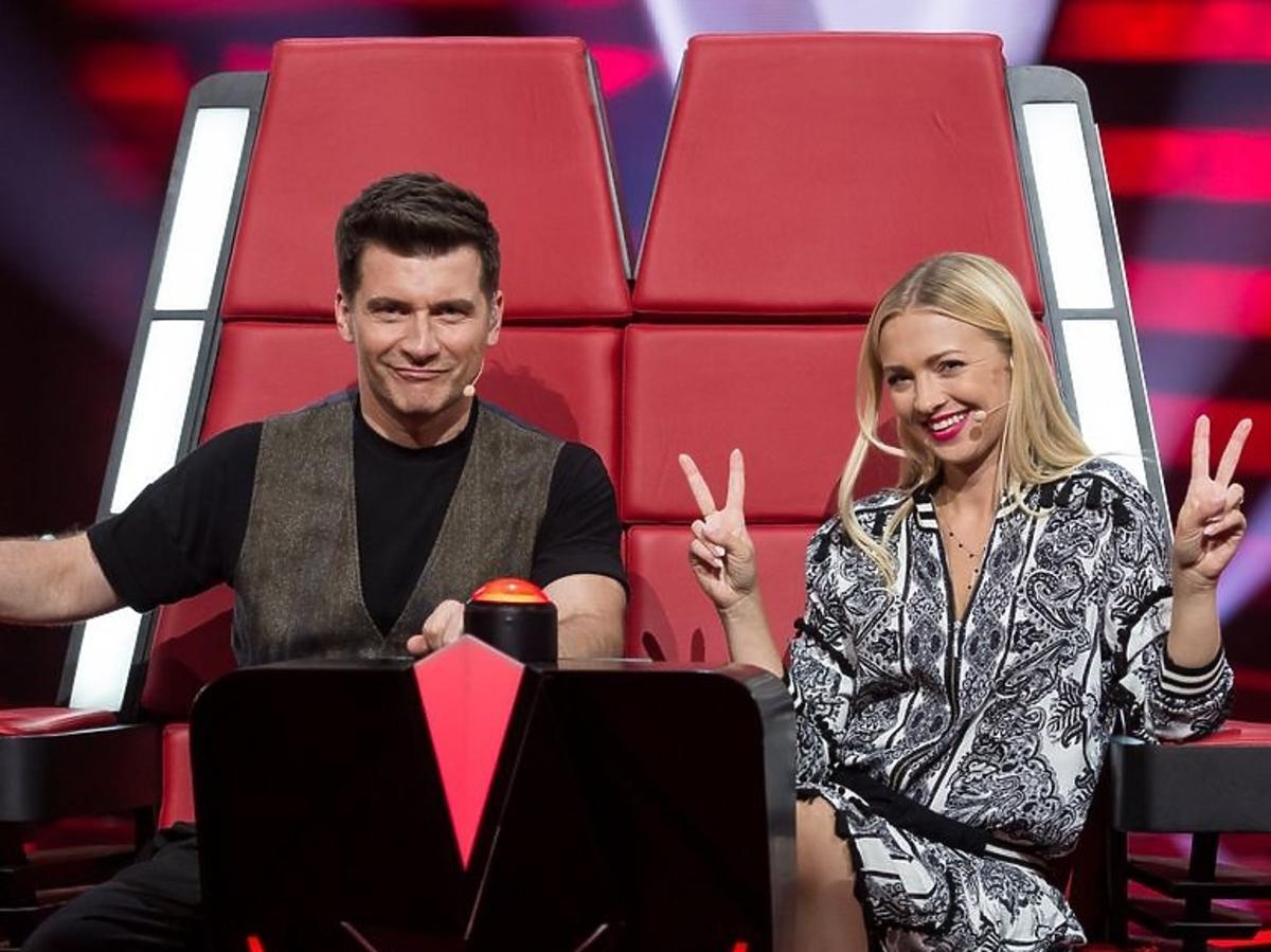 Tomasz Kammel i Barbara Kurdej-Szatan w The Voice Kids