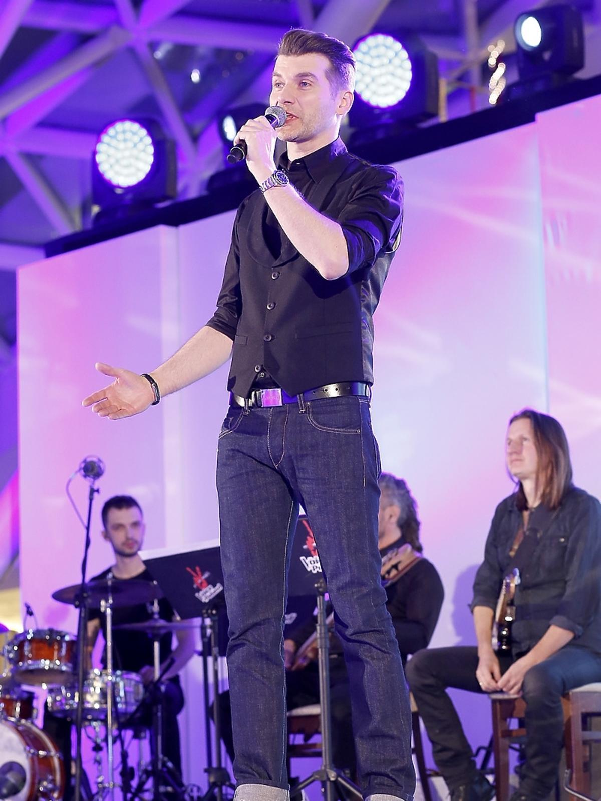 Tomasz Kammel na koncercie w Złotych Tarasach