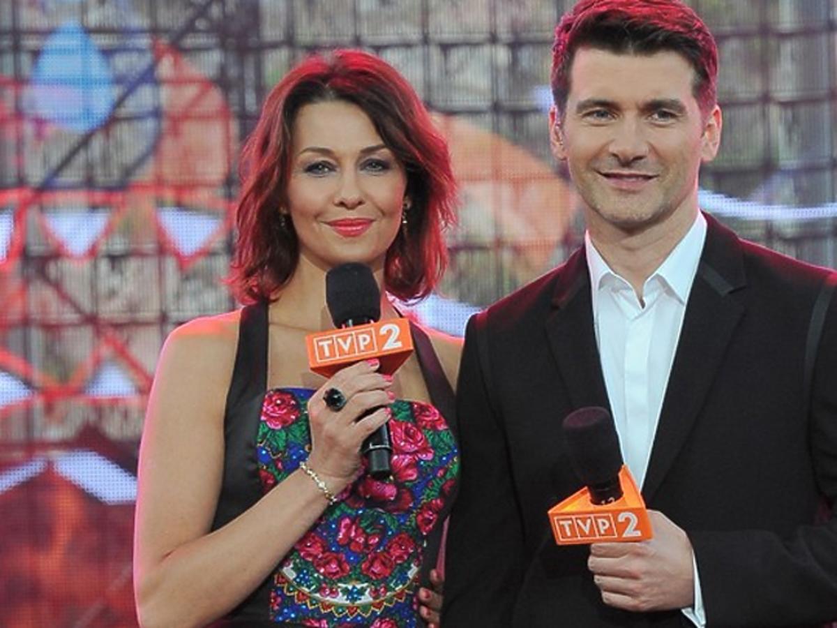 Tomasz Kammel z mikrofonem