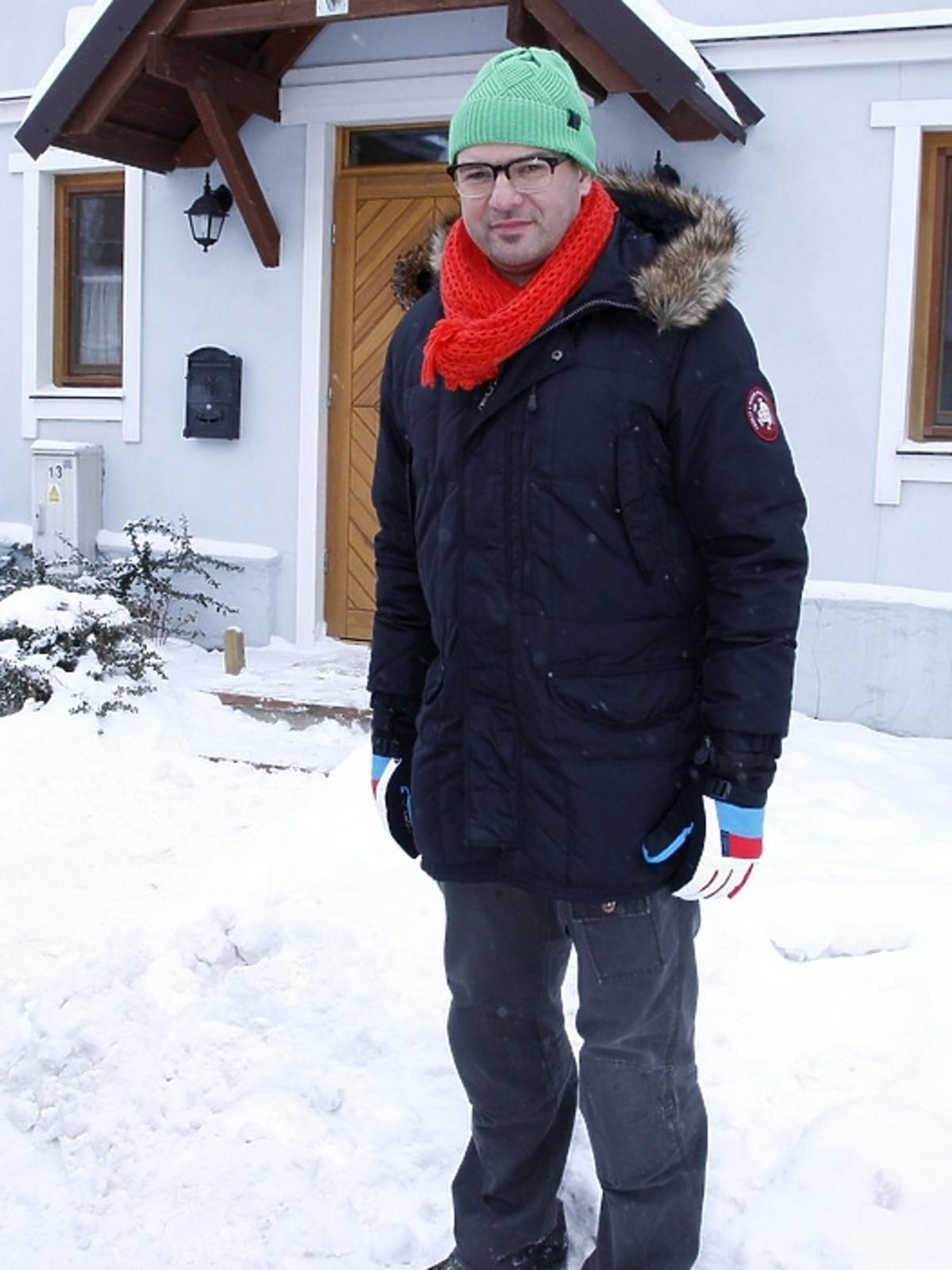 Tomasz Karolak na planie serialu