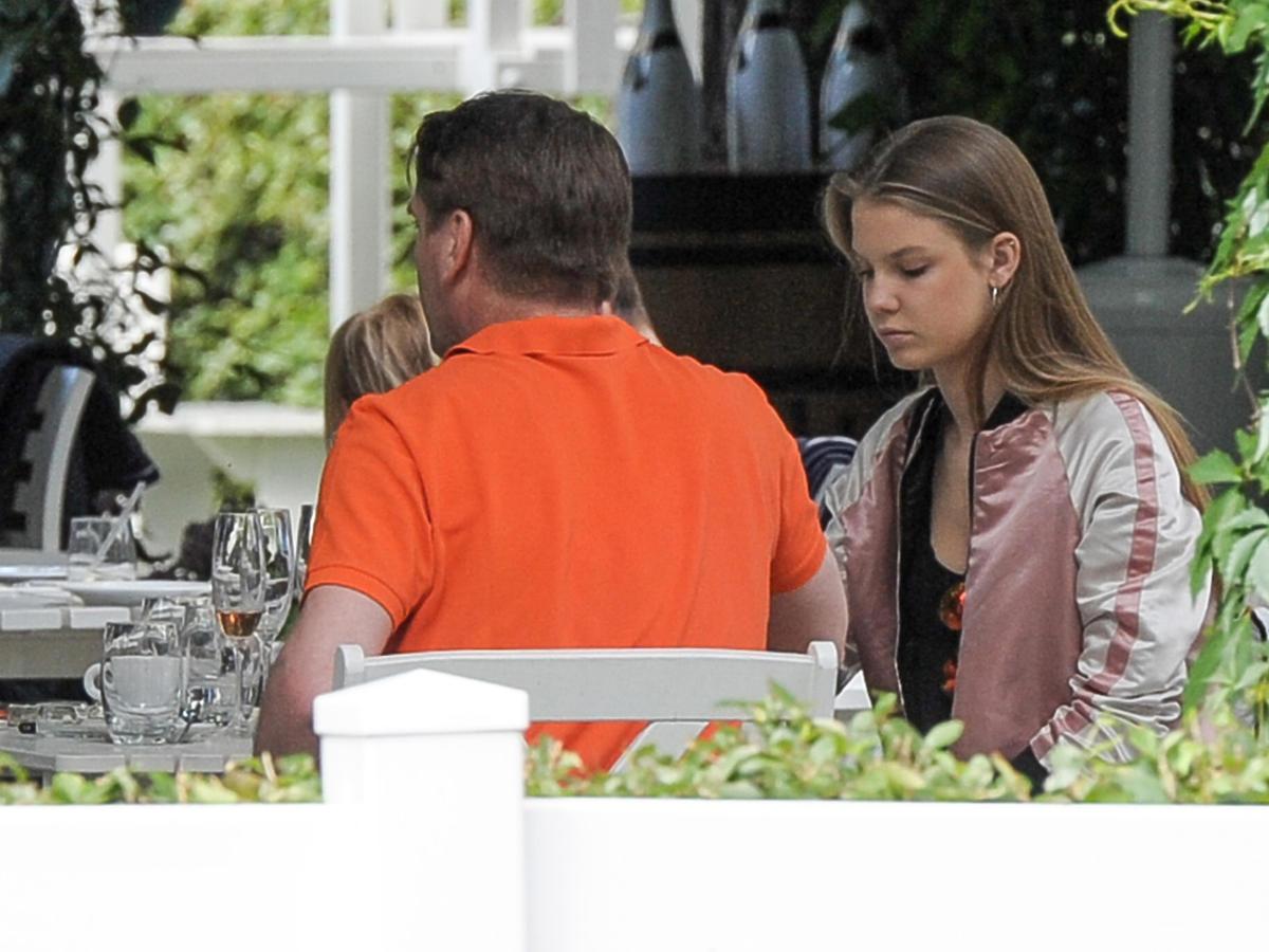 Tomasz Lis z córką Igą w restauracji